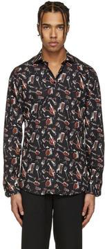 Dolce & Gabbana Black Instrument Shirt