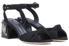 Dolce & Gabbana Embellished satin sandals
