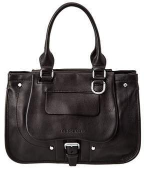 Longchamp Balzane Leather Shoulder Bag. - BLACK - STYLE