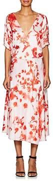 Cédric Charlier Women's Abstract-Print Short-Sleeve Midi-Dress