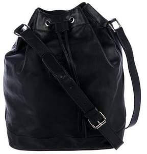 Ralph Lauren Leather Drawstring Bucket Bag