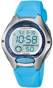 Casio Women's Digital Sport Watch, Blue Resin Strap