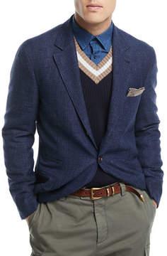 Brunello Cucinelli Heathered Wool/Linen Sport Jacket