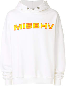 Misbhv logo printed hoodie