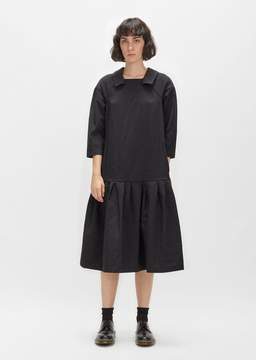 Comme des Garcons Polyester Tropical Straight Dress Black