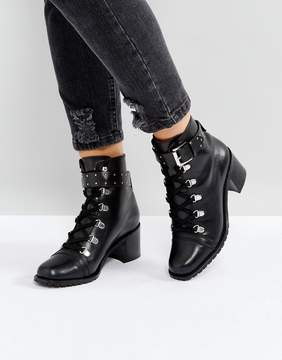 Asos RATIO Leather Hiker Boots