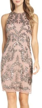 Adrianna Papell Women's Embellished Chiffon Sheath Dress