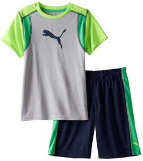Puma Baby Boy Graphic Performance Tee & Shorts Set
