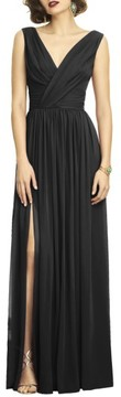Dessy Collection Women's Surplice Ruched Chiffon Gown