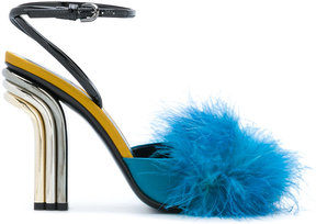 Marco De Vincenzo furry trim pumps