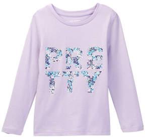 Joe Fresh Printed Long Sleeve Tee (Toddler & Little Girls)