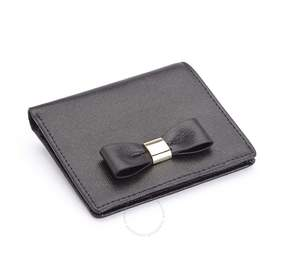 Royce Leather ROYCE RFID Blocking Mini Bow Wallet in Saffiano Leather