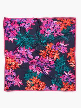 Talbots Tumbling Bouquet Silk Scarf