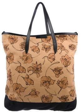 Dries Van Noten Floral Shopping Tote