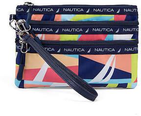 Nautica Captain's Quarters Triple-Zip Wristlet