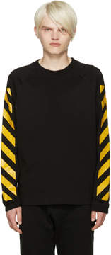 Moncler O Black Striped Sleeves T-Shirt