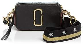 Marc Jacobs Snapshot Color Block Saffiano Leather Camera Bag - BLACK/GOLD - STYLE