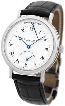 Breguet Classique Retrograde Seconds 18K White Gold Mens Strap Watch