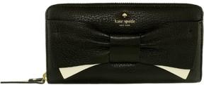Kate Spade Women's Eden Lane Lacey Bow Leather Zip Around Wallet - Black - BLACK - STYLE