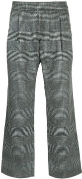 H Beauty&Youth loose-fit checked trousers