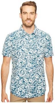 Agave Denim Isla Vista Bloom Linen Short Sleeve Button Up