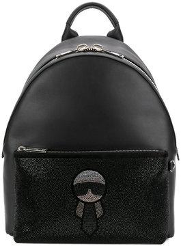 Fendi crystal Karl backpack