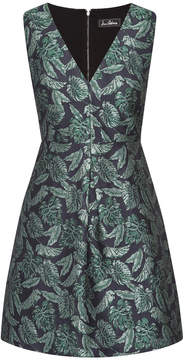 Sam Edelman Floral Jaquard A-Line Dress