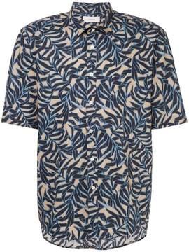 Cerruti leaf print short sleeve shirt