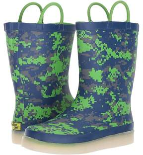 Western Chief Digital Camo LED Rain Boots Boys Shoes