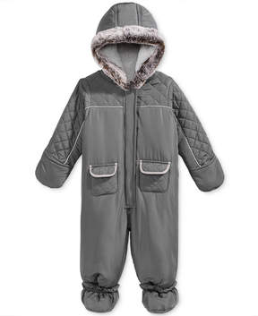 First Impressions Quilted Footed Snowsuit with Faux Fur Trim, Baby Boys (0-24 months), Created for Macy's