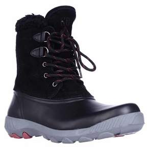 Cougar Maple Sugar Lace-up Insulated Snow Boots, Black.
