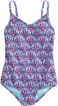 Vineyard Vines Girls Scallop Shell Print One Piece
