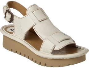 Fly London Kani Leather Wedge Sandal