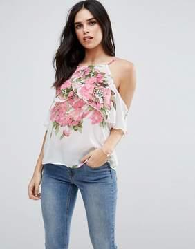 AX Paris Frill Sleeve Floral Cami Top
