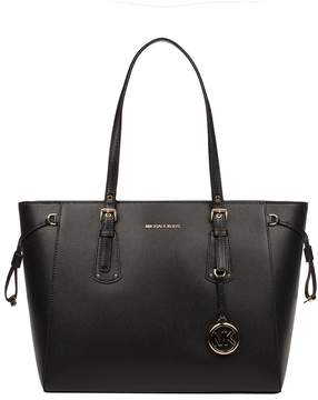 Michael Kors Black Voyager Saffiano Leather Tote - BLACK - STYLE