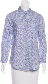 Barneys New York Barney's New York Floral Button-Up Top