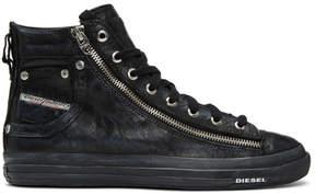 Diesel Black Expo-Zip High-Top Sneakers