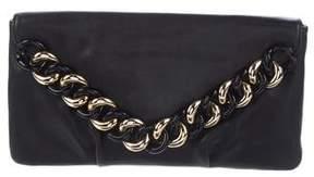 Michael Kors Embellished Leather Envelope Clutch