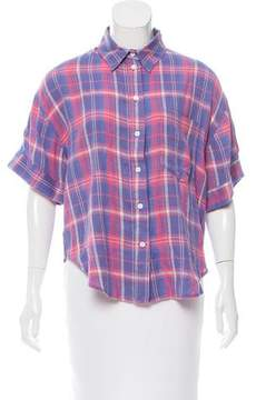 Band Of Outsiders Oversize Plaid Top