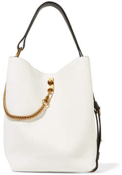 Givenchy Gv Bucket Textured-leather Shoulder Bag - White