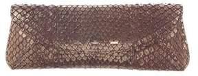 VBH Metallic Snakeskin Clutch