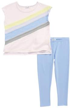 Splendid Rainbow Tee & Leggings Set