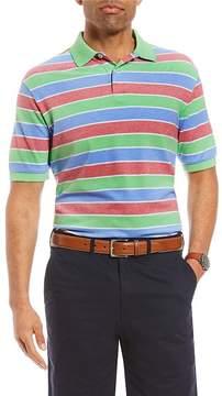 Daniel Cremieux Stripe Oxford Pique Short-Sleeve Polo Shirt