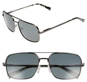 Ted Baker Men's 60Mm Polarized Navigator Sunglasses - Dark Gunmetal