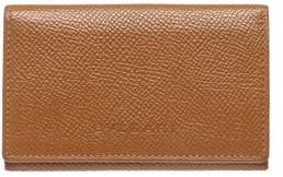 Bvlgari Tan Leather Small Coin Pouch Wallet.