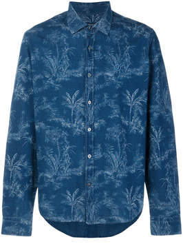 Jeckerson palm tree print shirt