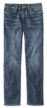 L.L. Bean Signature Five-Pocket Jeans with Stretch, Slim Straight Lined