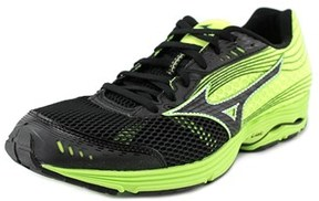 Mizuno Wave Sayonara 3 Men Round Toe Synthetic Black Running Shoe.