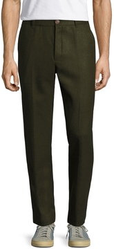 Commune De Paris Men's Wool Flat Front Trousers