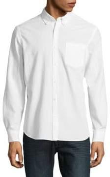 Black & Brown Black Brown Textured Button-Down Cotton Shirt